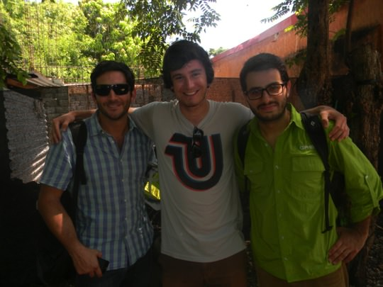Carl (middle) with LEED consultants Fabricio and Federico from SPHERA.
